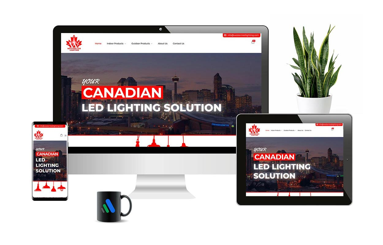 Western LED Lighting | Responsive E-commerce Web Design