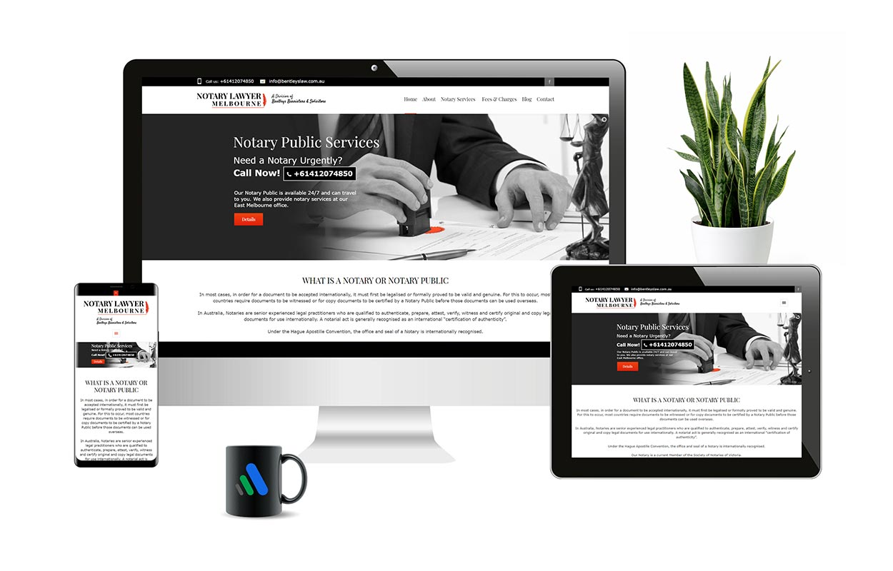 Website Design - Notary Lawyer Melbourne